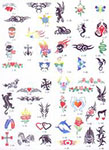 Temporary Tattoos from Oliver Entertainment and Caterting serving Northern Virginia, Washington DC and Maryland