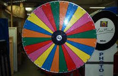 color Wheel or other games from Oliver Entertainment and Caterting serving Northern Virginia, Washington DC and Maryland