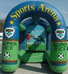 Power Kick Soccer inflatable amusement game from Oliver Entertainment and Caterting serving Northern Virginia, Washington DC and Maryland